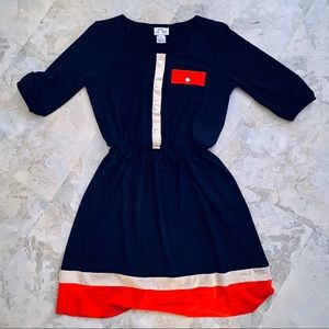 Navy Blue A Dress